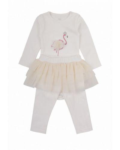 Бежевый костюм фламинго текстиль