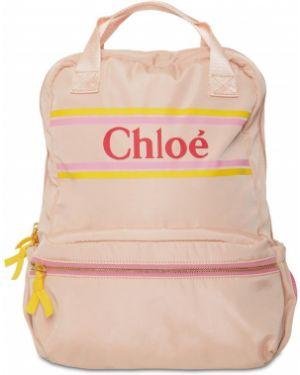 Różowy plecak z nylonu Chloe