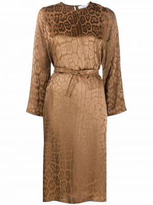 Платье из вискозы - коричневое Roseanna