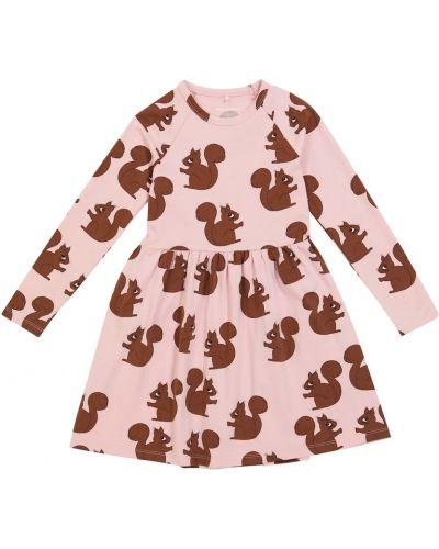 Хлопковое платье мини - розовое Mini Rodini