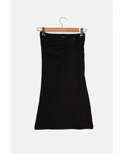 Spódnica dzianinowa - czarna Trendyol