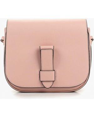 Кожаная сумка через плечо розовый Banana Republic