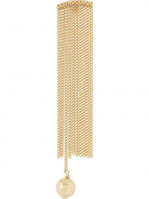 Золотистые желтые серьги с жемчугом с жемчугом Wouters & Hendrix