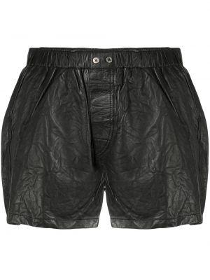 Черные с завышенной талией кожаные шорты Zadig&voltaire