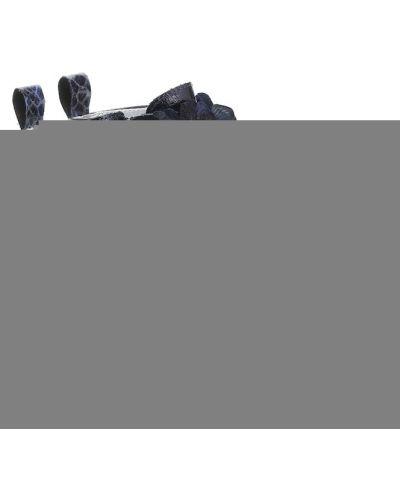 Niebieski skórzany buty Monnalisa