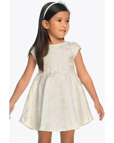 Платье с рукавами белое закрытый Mayoral