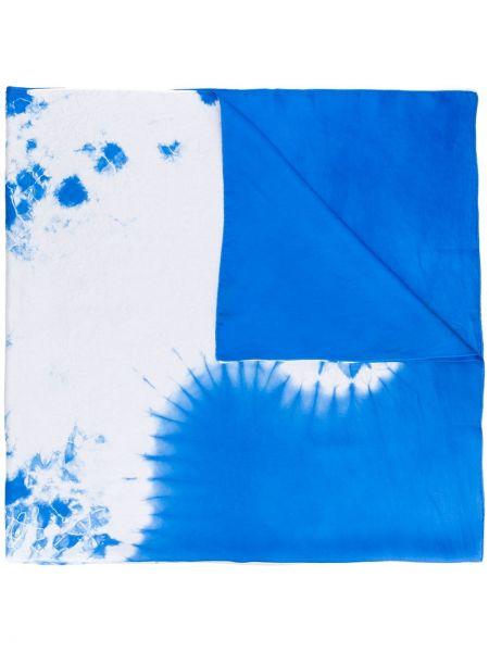 Шелковый синий шарф Suzusan