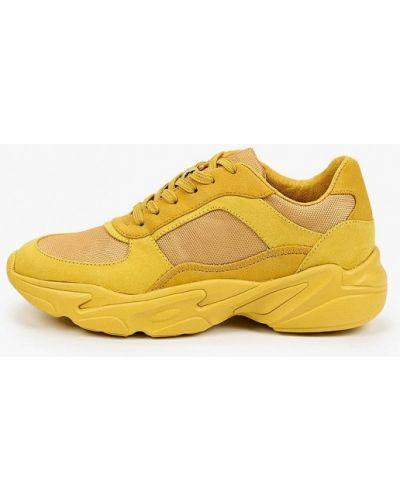 Желтые кожаные кроссовки S.oliver