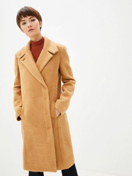 Бежевое пальто с капюшоном Patrizia Pepe