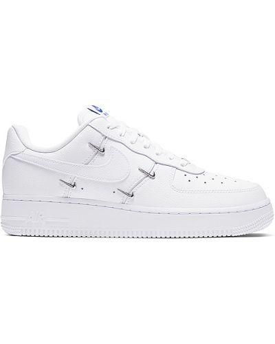 Biały sneakersy na sznurowadłach perforowany metal Nike