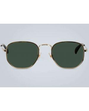 Черные солнцезащитные очки металлические с завязками Givenchy