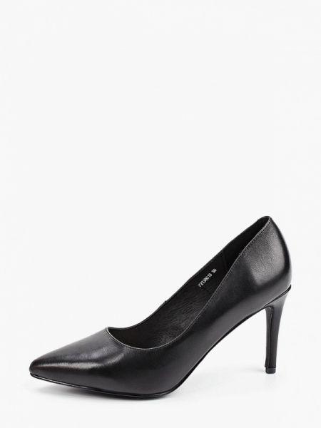 Кожаные туфли черные лодочки Pierre Cardin