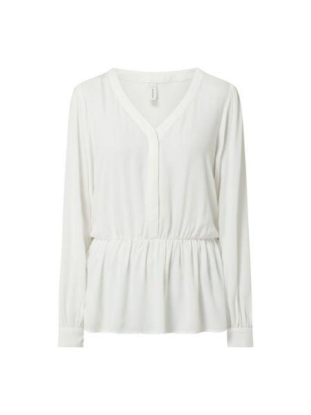 Biała bluzka z długimi rękawami z dekoltem w serek Soyaconcept