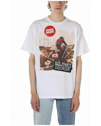 Biała t-shirt Raf Simons