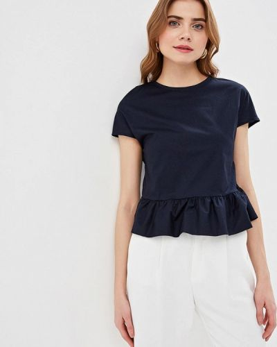 Блузка с коротким рукавом синяя итальянский Perfect J