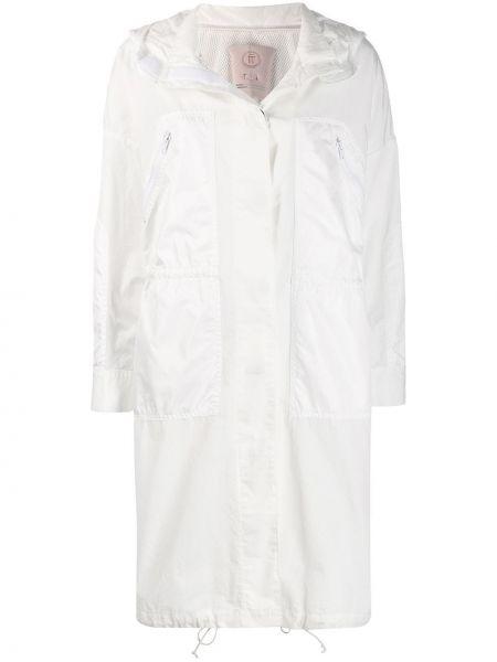 Пальто с капюшоном айвори Tela
