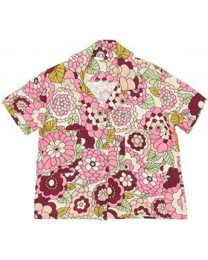 С рукавами розовая рубашка из вискозы с лацканами Dodo Bar Or