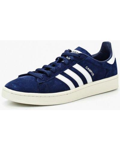 Синие кеды замшевые Adidas Originals