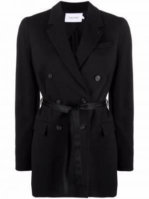 Черный пиджак двубортный Calvin Klein