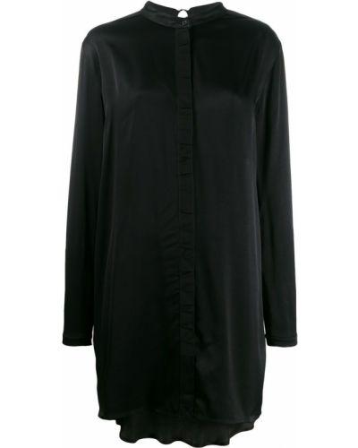 Платье макси с длинными рукавами - черное Diesel Black Gold