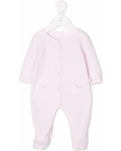 Хлопковый с рукавами розовый комбинезон Absorba