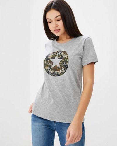 Серая футболка Converse