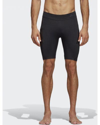 Короткие шорты черные кожаные Adidas