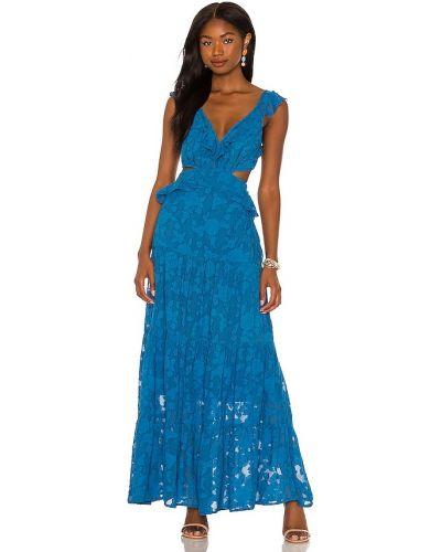 Платье на молнии - синее Karina Grimaldi