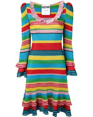 Платье с длинными рукавами приталенное Moschino