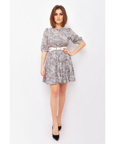 Платье в цветочный принт - синее Espiga