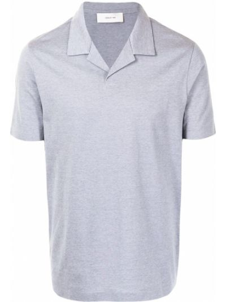 Хлопковая серая рубашка с короткими рукавами Cerruti 1881