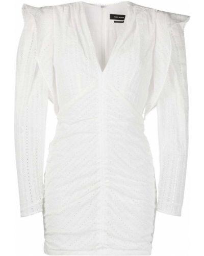 Шелковое платье макси - белое Isabel Marant