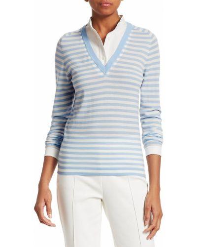 Klasyczna koszula bawełniana w paski z długimi rękawami Akris Punto