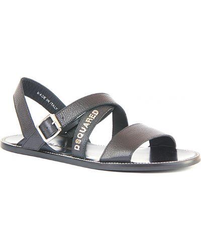 Черные кожаные сандалии Dsquared2