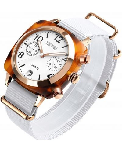 Klasyczny zielony złoty zegarek Skmei