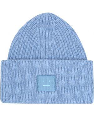 Синяя шерстяная шапка бини Acne Studios