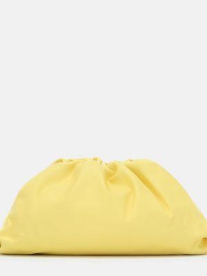 Kopertówka skórzana - żółta Bottega Veneta