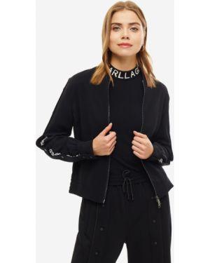 Куртка черная на молнии Karl Lagerfeld