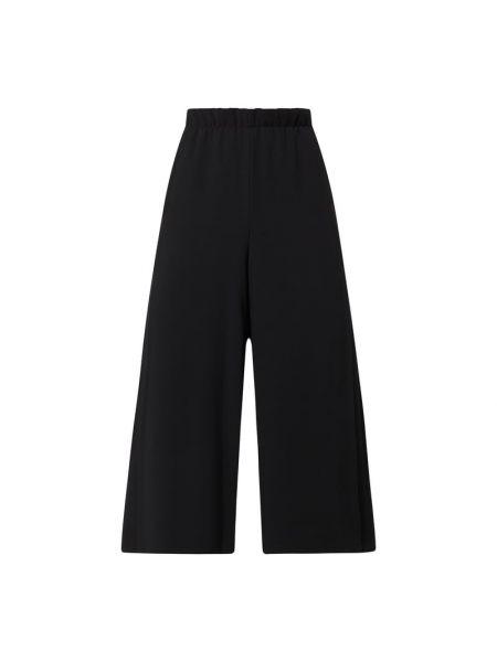 Czarne spodnie rozkloszowane Riani
