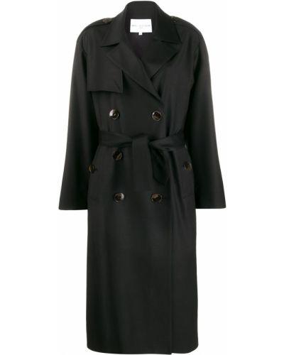 Коралловое шерстяное длинное пальто с воротником Carolina Ritzler