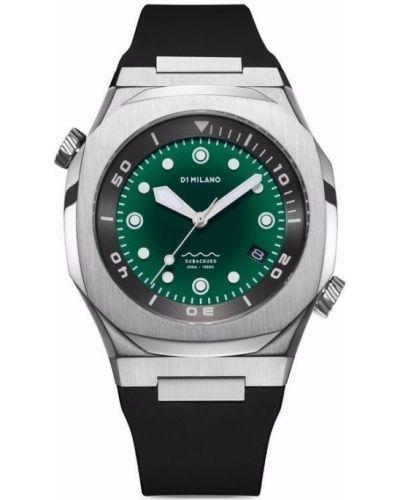 Часы с ремешком - зеленые D1 Milano