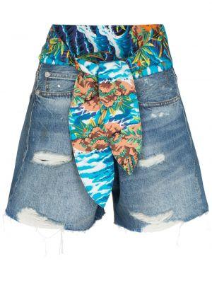Джинсовые шорты с карманами синий R13