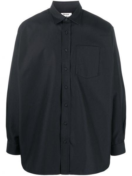Koszula z długim rękawem długa czarna Acne Studios