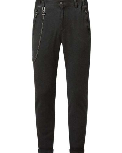 Czarne spodnie bawełniane Tigha