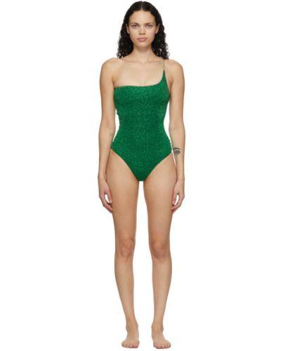 Зеленый купальник с люрексом с подкладкой Oseree