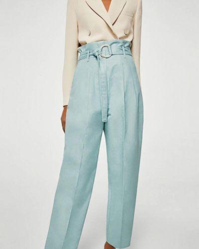 Бирюзовые брюки Mango