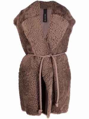 Коричневая кожаная куртка Blancha