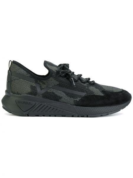 Черные кроссовки с сеткой Diesel