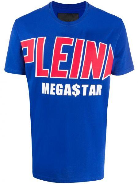 Koszula krótkie z krótkim rękawem prosto niebieski Philipp Plein
