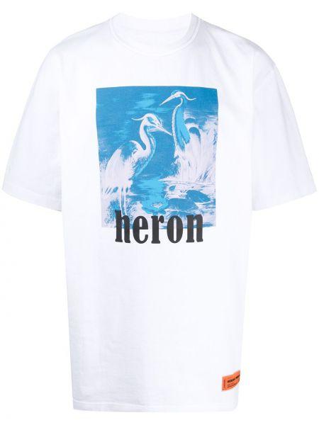 Z rękawami bawełna prosto biały koszula Heron Preston